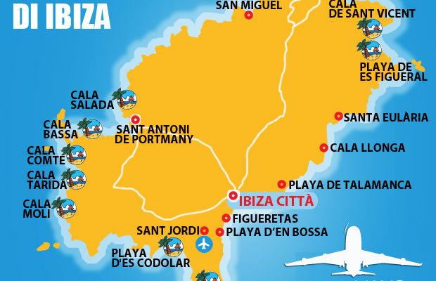 Mappe Spiagge Ibiza